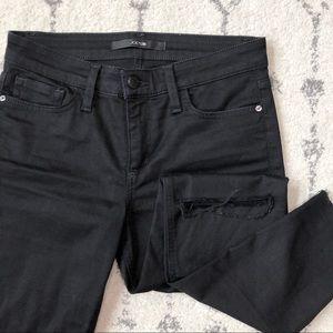 Joe's Jeans Black Skinny Jeans Distressed sz 27